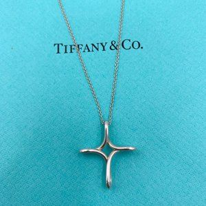 Authentic Tiffany & Co Infinity Cross Necklace
